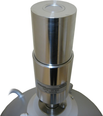 High Purity Germanium detector (HPGe) for high resolution gamma spectroscopy. An HPGe detector with liquid nitrogen dewar vessel