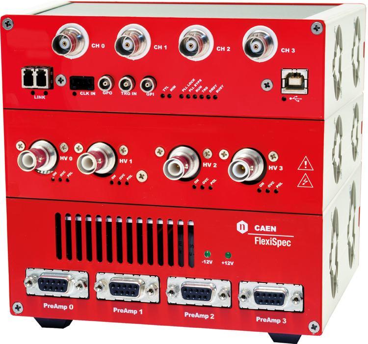 Flexispec: modular multi-input gamma spectroscopy sistem MCA