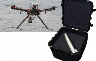 compact radionuclides identification system , a drone mountable probe for UAV system or UGV system