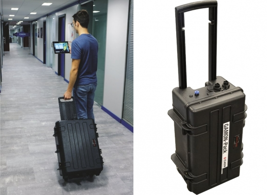 portable radionuclide identifier , a trolley shaped system for discrete monitoring in crowded areas