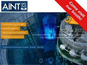 ICOND 2020 - International Conference on Nuclear Decommissioning